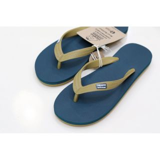 Tongs écologiques pour femme bleu strap camel
