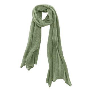 Nouvelle écharpe été coton bio et chanvre vert cactus