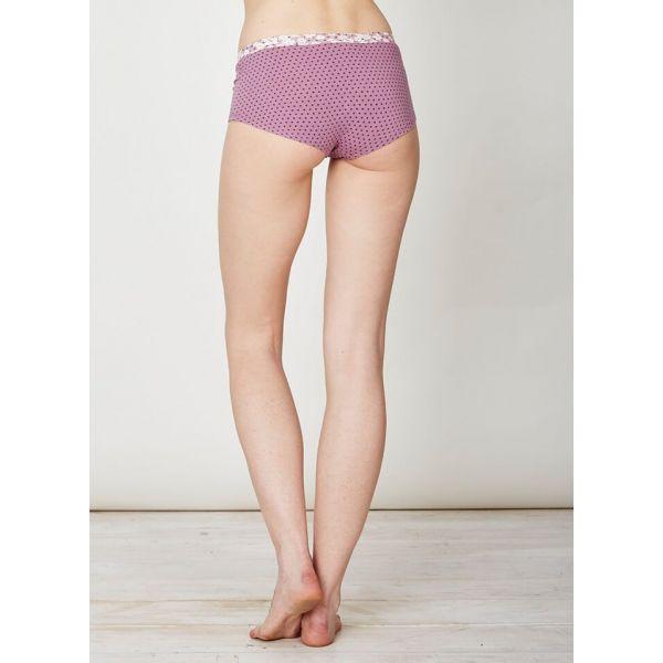 8d8e8f67a06 ... coton bio  Slip culotte femme rose imprimé en bambou de la marque  Thought