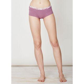 Slip culotte femme rose imprimé bambou et coton bio