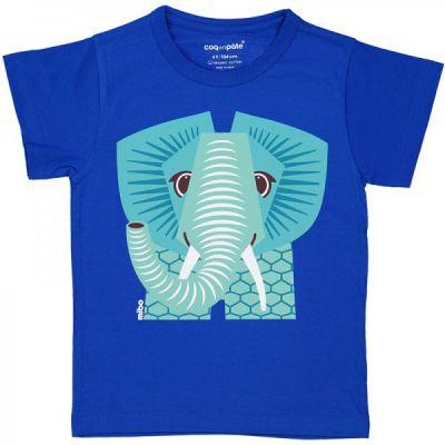 T-shirt coton bio bleu Éléphant
