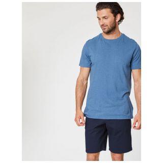 Short bleu marine en coton bio