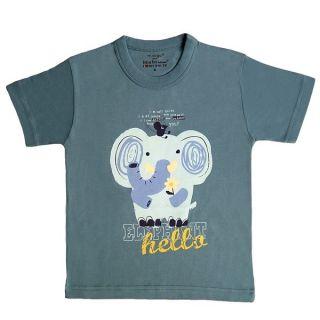 T-shirt gris coton bio éléphant