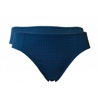 Lot de 2 slips femme coton bio bleu