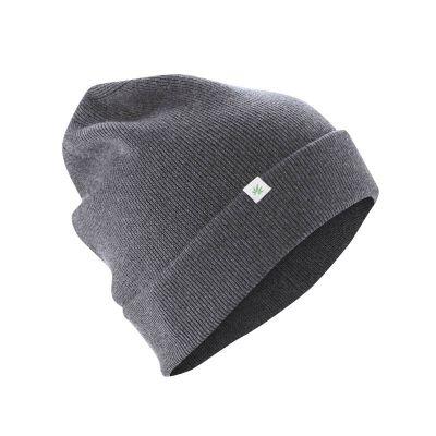 Bonnet laine chanvre et coton bio anthracite