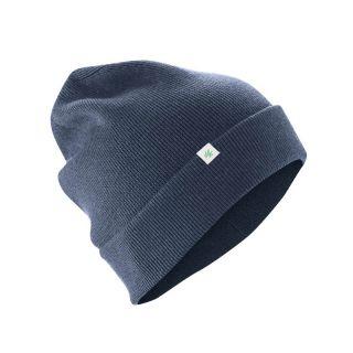 Bonnet laine chanvre et coton bio bleu gris