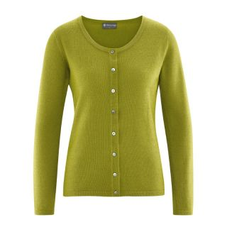 Veste gilet pour femme en laine, chanvre et coton bio vert