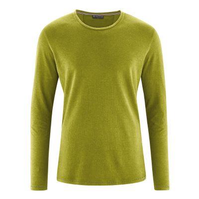 T-shirt écologique manches longues chanvre et coton bio vert clair