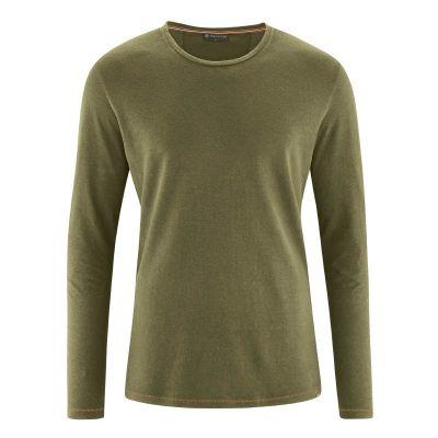 T-shirt écologique manches longues chanvre et coton bio khaki
