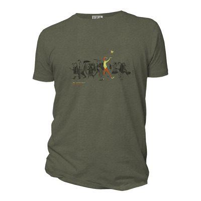 Tee shirt manches courtes et bio kaki Be different