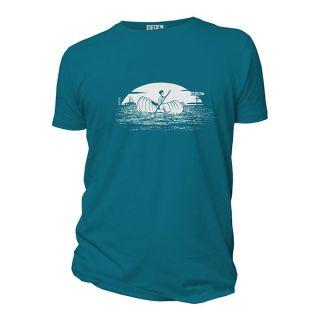 Tee shirt manches courtes bleu Ailleurs