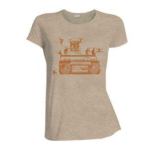 Tee-shirt femme beige coton bio et équitable Danse