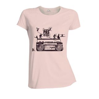 Tee-shirt femme rose coton bio et équitable Danse