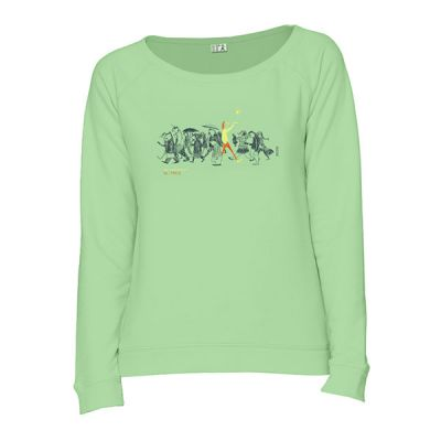Sweat femme bio vert Be different