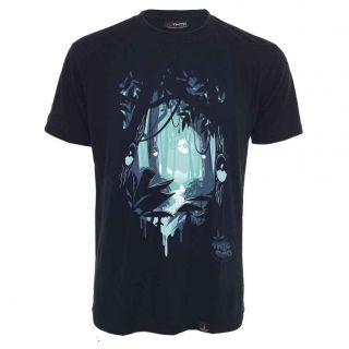 Tee shirt chanvre et coton bio noir Deep forest
