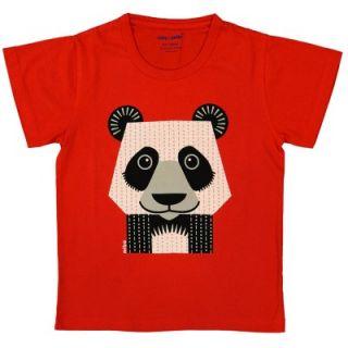 T-shirt coton bio rouge Panda