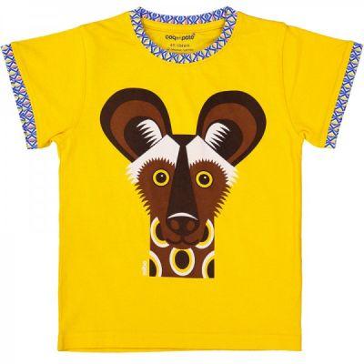 T-shirt coton bio jaune lycaon