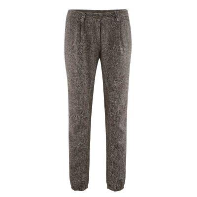 Pantalon femme mode bio mélange gris et noir