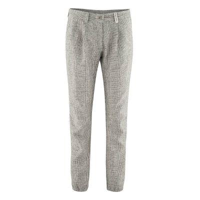 Pantalon femme mode bio gris clair nature