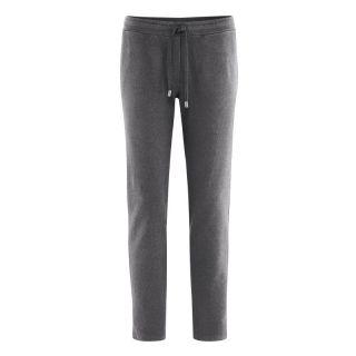 Pantalon de sport femme mode bio en coton bio et chanvre nthracite