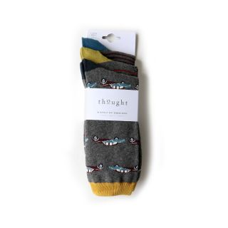 3 paires de chaussettes en bambou pour homme marque Thought