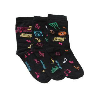 2 chaussettes dépareillées noires avec imprimé certifiées oeko-tex