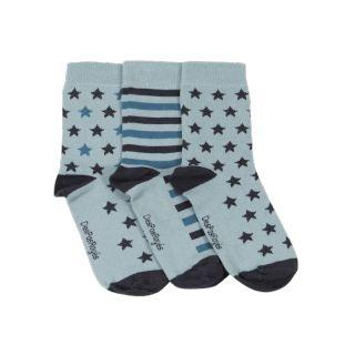 Chaussettes femme bleues menthe étoiles