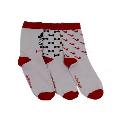 Chaussettes homme grises Hipster