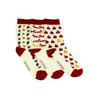 3 chaussettes blanches femme dépareillées Automne