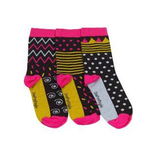 Chaussettes féminines noires et colorées
