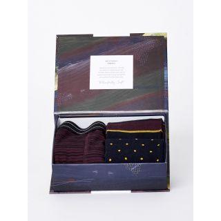 Coffrets cadeaux bio pour homme 2 paires de chaussettes et un boxer en bambou et coton bio