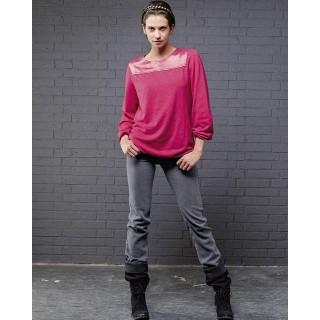 Modèle tunique Jasmin couleur haut femme bi-matières