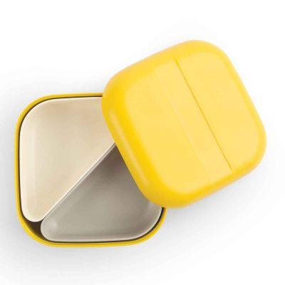 Boîte, Bento, lunch box, bleu, jaune ou corail