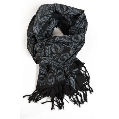 Foulard boheme noir et gris