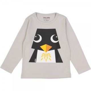 T-shirt gris opal coton bio recto verso pingouin