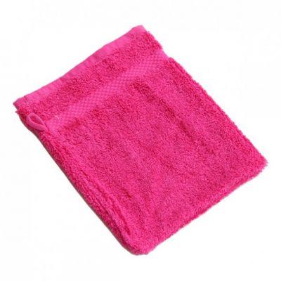 Gant de toilette coton bio rose