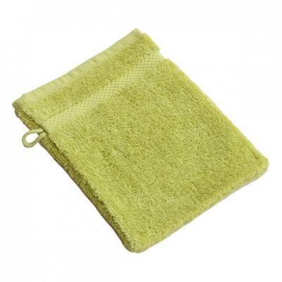 Gant de toilette coton bio vert anis