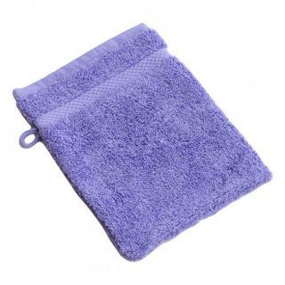 Gant de toilette coton bio lavende