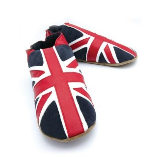 Union jack marine chaussons adultes