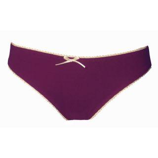 Slip couleur prune femme 100% coton bio Peau Éthique