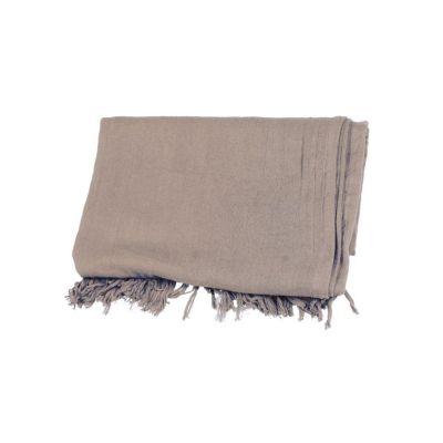 Cheche écharpe coton bio gris taupe