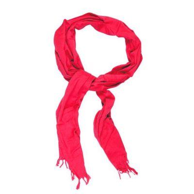 Cheche écharpe coton bio rouge