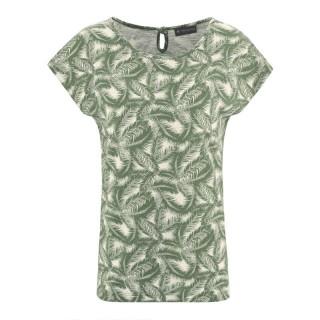 t-shirt chanvre coton bio imprimé feuilles de palmier vert
