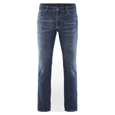 Jean bio bleu aspect usagé ou brut en chanvre et coton bio