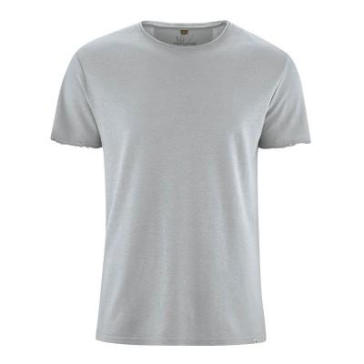 t-shirt manches courtes en fibres de chanvre et coton bio gris tin