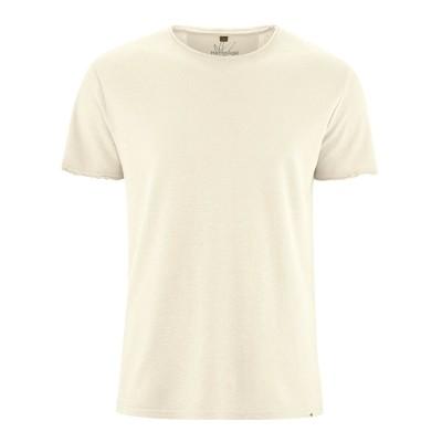 t-shirt manches courtes en fibres de chanvre et coton bio nature
