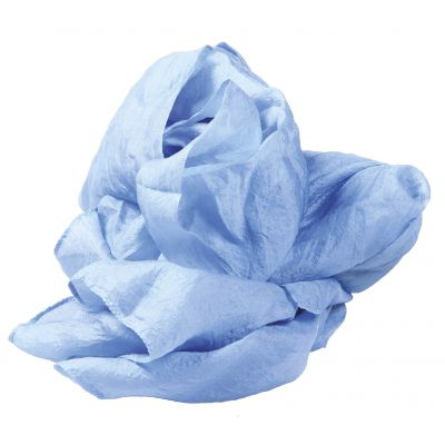 Echarpes 100% soie naturelle bleu ciel