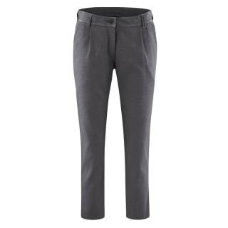 Pantalon 7/8 en coton bio et chanvre anthracite