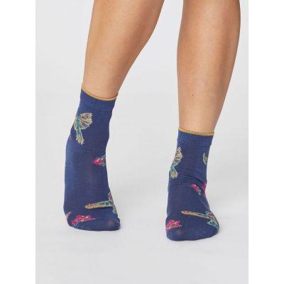 28cdc55db97 Jolies chaussettes en modal couleur bleue pour femme