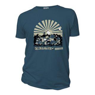 Tee-shirt bleu coton déconsommation